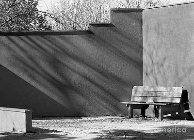 Photograph - Bench Black And White by Karen Adams