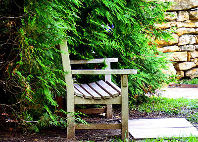 Photograph - Bench by Bob Brents