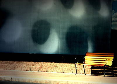 City Photograph - Bench By The Circles by Emily Stauring