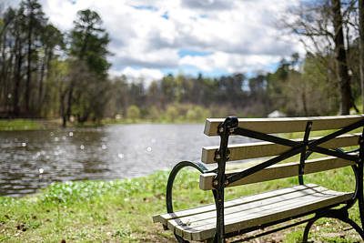 Photograph - Bench By The Pond by Doug Ash