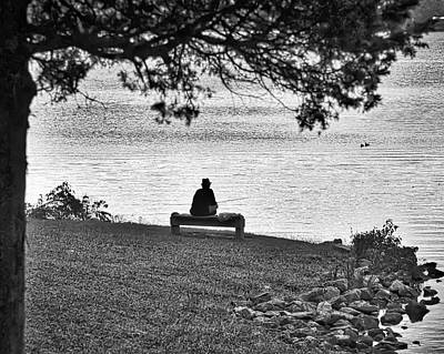 Photograph - Bench Fishing by Kerri Farley
