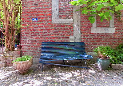 Photograph - Bench For Lovers, Liege, Belgium by Elenarts - Elena Duvernay photo