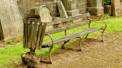 Photograph - Bench For Reflection On Eternity. by Elena Perelman