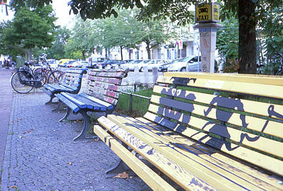 Photograph - Bench Graffiti by Nacho Vega