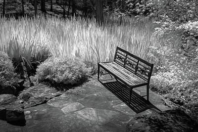 Photograph - Bench In Black And White by James Barber