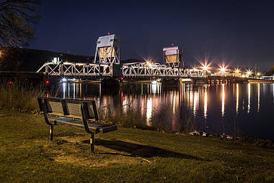 Lewiston Photograph - Bench In The Dark by Brad Stinson