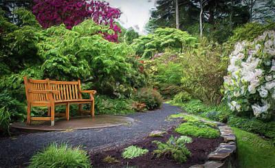 Photograph - Bench In The Garden by Thom Zehrfeld