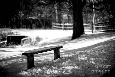 Photograph - Bench In The Shadows by John Rizzuto