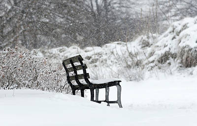 Bench In The Snow Original