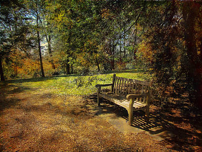 Art Print featuring the photograph Bench by John Rivera
