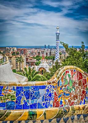 Bench Of Barcelona Art Print