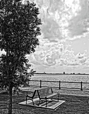 Photograph - Bench Overlooking The Bay by Maggy Marsh