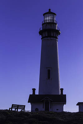 Bench Pigeon Point Light House Art Print
