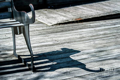 Bench Shadow Art Print