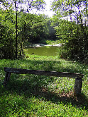 Photograph - Bench With A View by Jamie Johnson