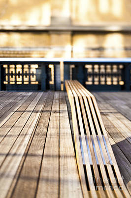 Benches At The High Line Park Art Print by Eddy Joaquim