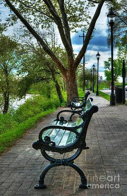 Photograph - Benches On Riverside Drive by Mel Steinhauer