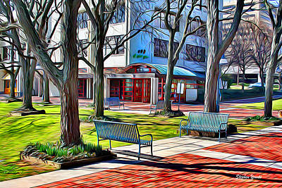 Md Digital Art - Benches by Stephen Younts