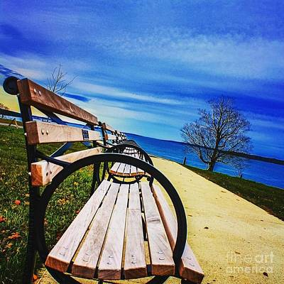 Fore River Photograph - Benches  by Victory  Designs