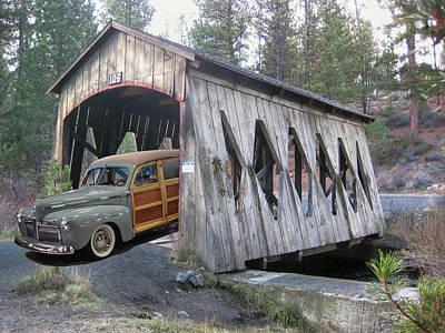 Photograph - Bend Bridge Merc by Bill Dutting