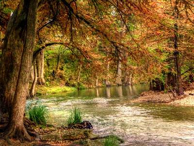 Photograph - Bend In The Frio River by Michael Ziegler