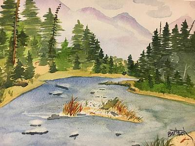 Painting - Bend In The River by David Bartsch
