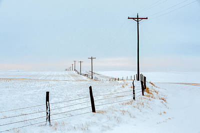 Barbed Wire Fences Photograph - Bend In The Road by Todd Klassy