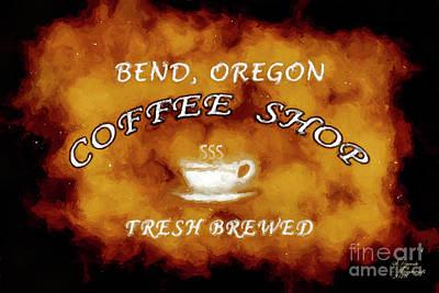 Mixed Media - Bend Oregon Coffee Shop by David Millenheft