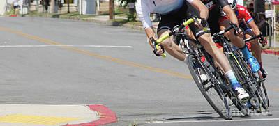 Bike Race Photograph - Bending Bikes  by Steven Digman