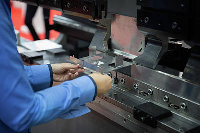 Steel Fabrication Photograph - Bending Machine by Anek Suwannaphoom