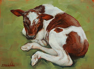Painting - Bendy New Calf by Margaret Stockdale