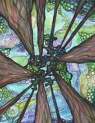 Cedars Painting - Beneath Magic by Tamara Phillips