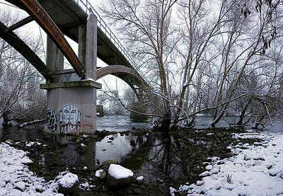 Beneath People's Park Bridge - Spokane Art Print
