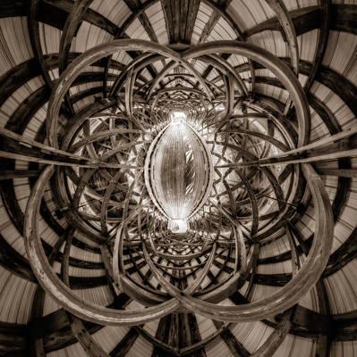 Photograph - Beneath The Arches Of Pont Bordeleau Bridge - Bw by Chris Bordeleau