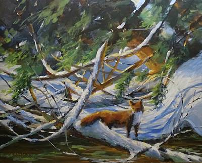 Painting - Beneath The Cedars by Sandra Strohschein