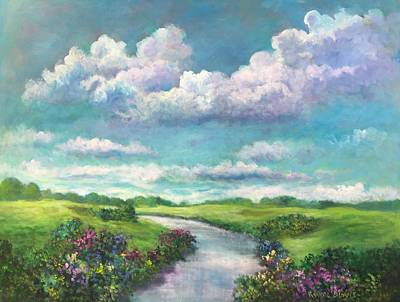 Beneath The Clouds Of Paradise Art Print