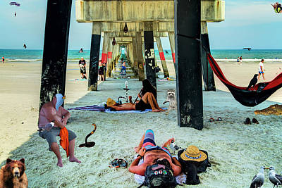 Photograph - Beneath The Jacksonville Beach Pier  by Kay Brewer