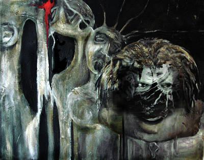Mixed Media - Beneath The Mask by Cora Marshall