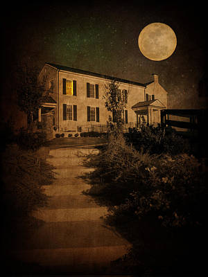 Night Moon Photograph - Beneath The Perigree Moon by Amy Tyler