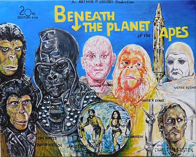 Painting - Beneath The Planet Of The Apes - 1970 Lobby Card That Never Was by Jonathan Morrill