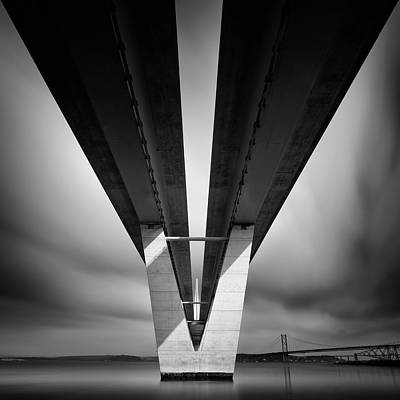 Photograph - Beneath The Queensferry Crossing by Dave Bowman