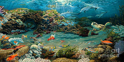 Painting - Beneath The Sea by Ruanna Sion Shadd a'Dann'l Yoder