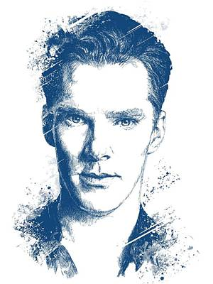 Digital Art Royalty Free Images - Benedict Cumberbatch Portrait Royalty-Free Image by Chad Lonius