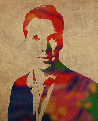 Benedict Cumberbatch Watercolor Portrait Art Print