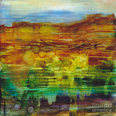 Alcohol Inks Painting - Beneficent Downpour by Louise Lamirande