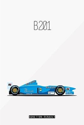Painting - Benetton Renault B201 F1 Poster by Beautify My Walls