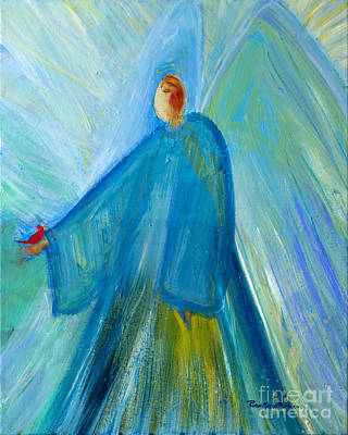Painting - Benevolent Angel With  Cardinal Pedrero by Robin Maria Pedrero