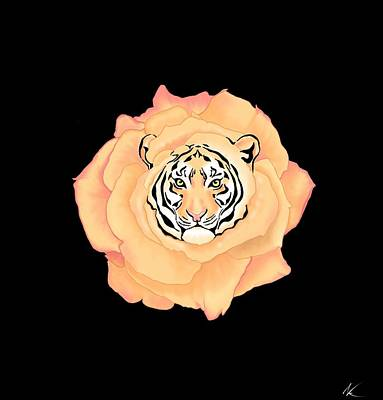 Digital Art - Bengal Blossom by Norman Klein