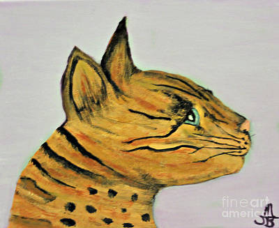 Painting - Bengal Cat  by Mindy Bench