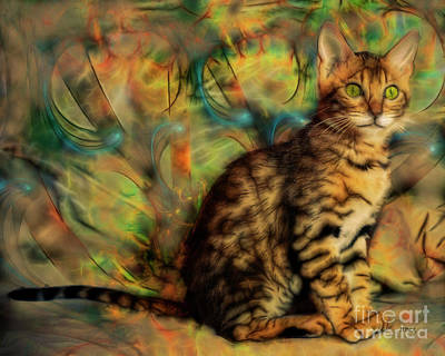Digital Art - Bengal Kitten by John Beck